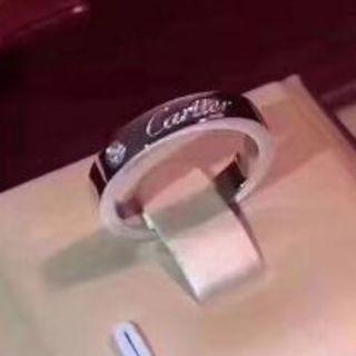 カルティエ(Cartier)の新品 カルティエ エングレーブド リング ダイヤ プラチナ(リング(指輪))