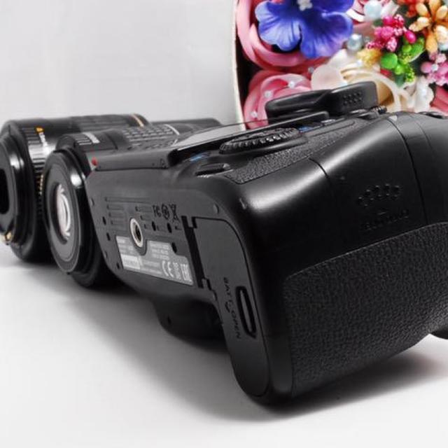 Canon(キヤノン)の【WiFi機能付き!】楽々転送 Canon EOS 70D ダブル レンズセット スマホ/家電/カメラのカメラ(デジタル一眼)の商品写真
