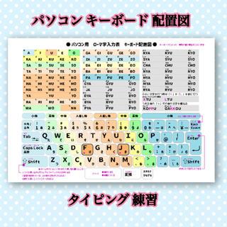 パソコン タイピング キーボード 配置表 プログラミング 知育教材 勉強(知育玩具)