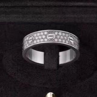 カルティエ(Cartier)のカルティエ WG ラブリング パヴェ ダイヤ #50 10号(リング(指輪))