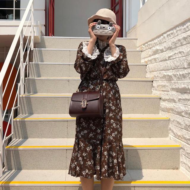 花柄 ワンピース レディースのワンピース(ロングワンピース/マキシワンピース)の商品写真