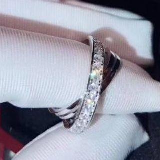 カルティエ(Cartier)のカルティエ トリニティフルダイヤリング 指輪 Cartier(リング(指輪))