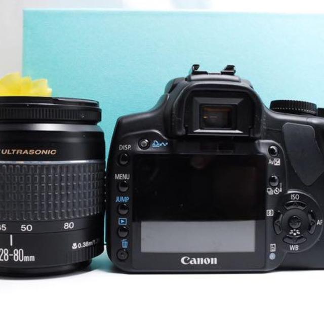 Canon(キヤノン)の【一眼レフデビューに最適!】Canon kiss x レンズキット スマホ/家電/カメラのカメラ(デジタル一眼)の商品写真