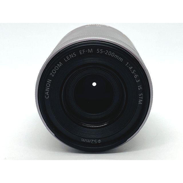 Canon(キヤノン)の★EOS M用 望遠レンズ ★キヤノン EF-M 55-200mm ★シルバー スマホ/家電/カメラのカメラ(レンズ(ズーム))の商品写真
