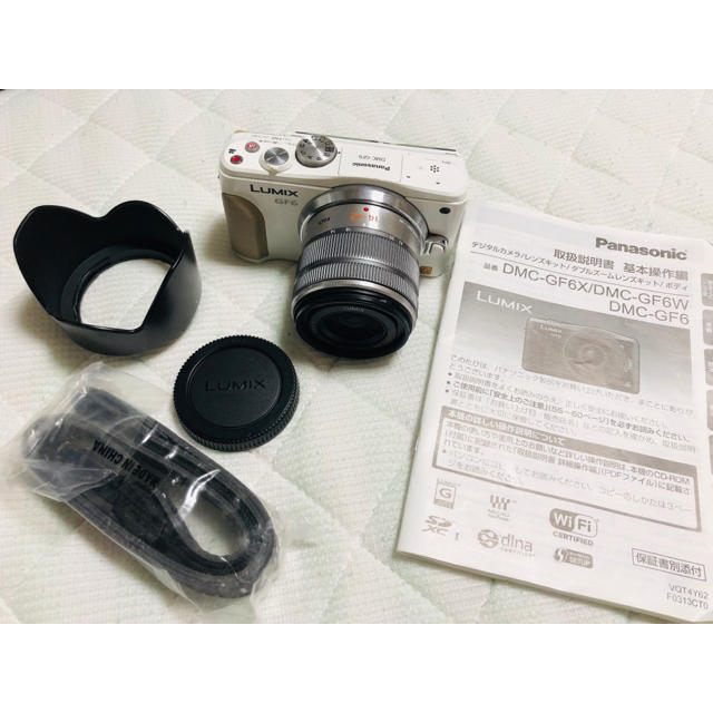 Panasonic(パナソニック)のLUMIX GF6 ジャンクボディ + 標準ズームレンズ スマホ/家電/カメラのカメラ(ミラーレス一眼)の商品写真