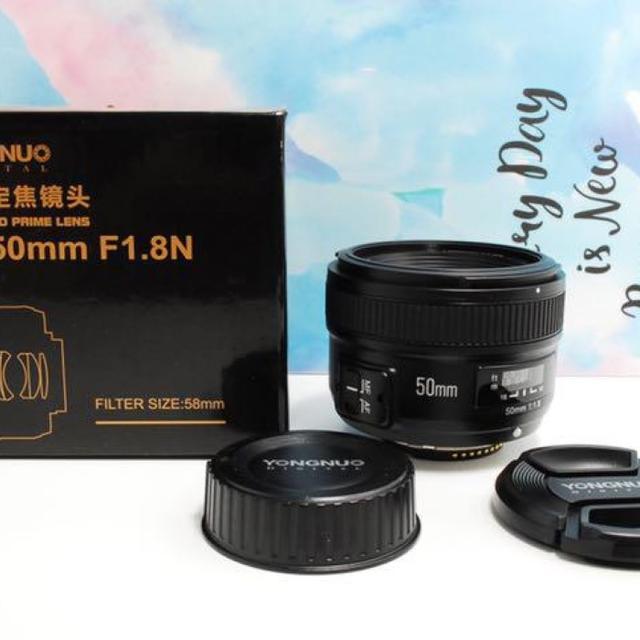 【新品未使用!】フルサイズ対応 Nikon用 50mmF1.8 単焦点レンズ スマホ/家電/カメラのカメラ(レンズ(単焦点))の商品写真