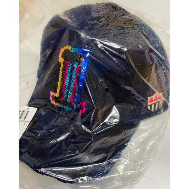 YOSHINORI KOTAKE(ヨシノリコタケ)の【YOSHINORI KOTAKE】別注 スパンコールナンバリングキャップNo1 メンズの帽子(キャップ)の商品写真