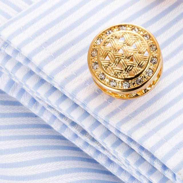 丸型 カフスボタン ゴールド  カフス タイピン ネクタイ カフスリンクス メンズのファッション小物(カフリンクス)の商品写真
