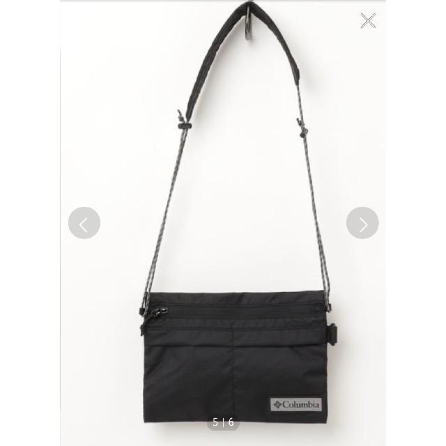 Columbia(コロンビア)の美品 Columbia サコッシュ 黒 ショルダー メンズのバッグ(ショルダーバッグ)の商品写真