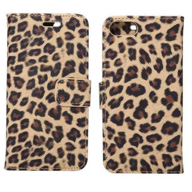 ゴールド iPhone7 iPhone8 豹柄 レオパード 手帳型 ケース  スマホ/家電/カメラのスマホアクセサリー(iPhoneケース)の商品写真