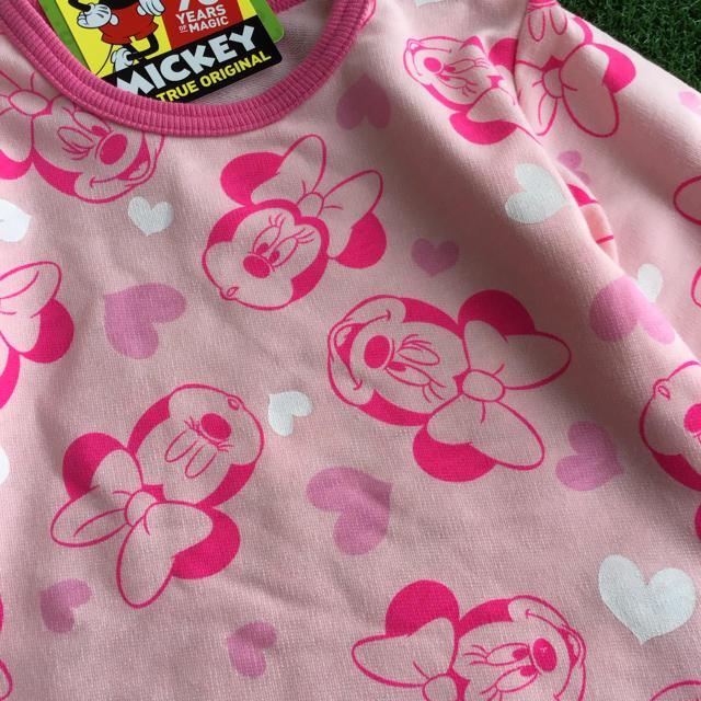 Disney(ディズニー)の★【90】ミニー 総柄 長袖 Tシャツ ロンT ピンク キッズ/ベビー/マタニティのキッズ服 女の子用(90cm~)(Tシャツ/カットソー)の商品写真