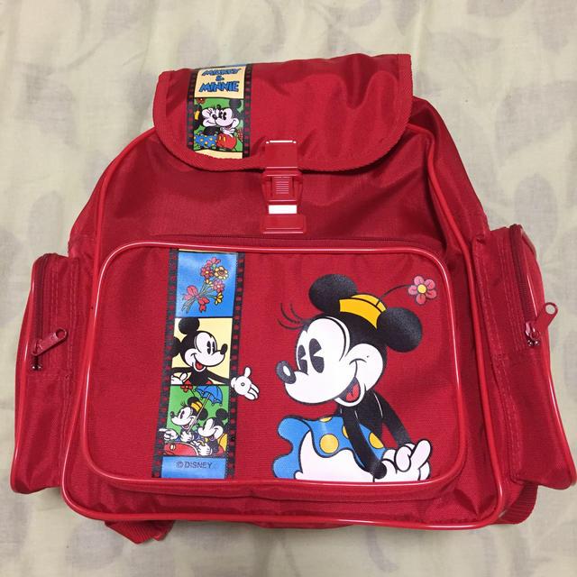 Disney(ディズニー)の未使用品 ミッキー&ミニー 子供用リュック M 5-8才適応サイズ キッズ/ベビー/マタニティのこども用バッグ(リュックサック)の商品写真