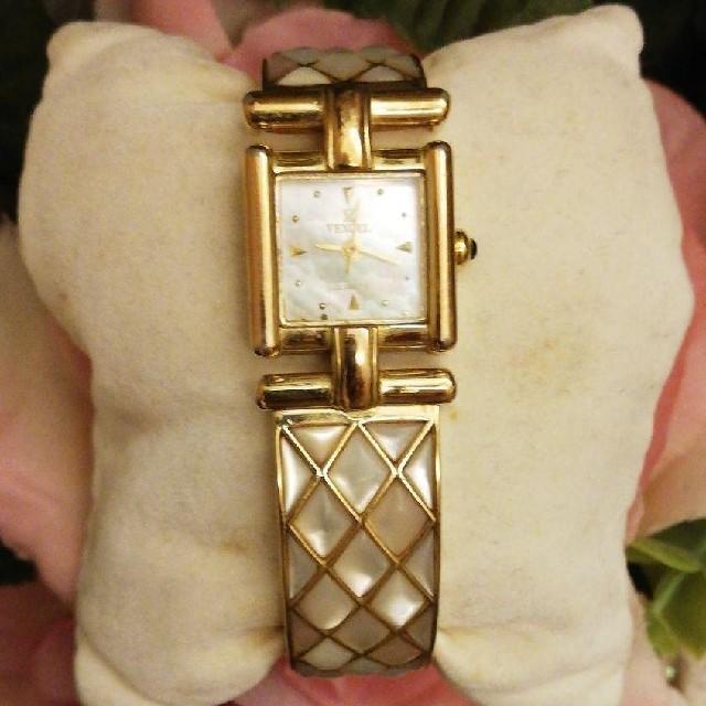 4万円品 ヴェクセル  腕時計 アナログ 3針 ピンク スクエア型  の通販 by きなこ's shop|ラクマ
