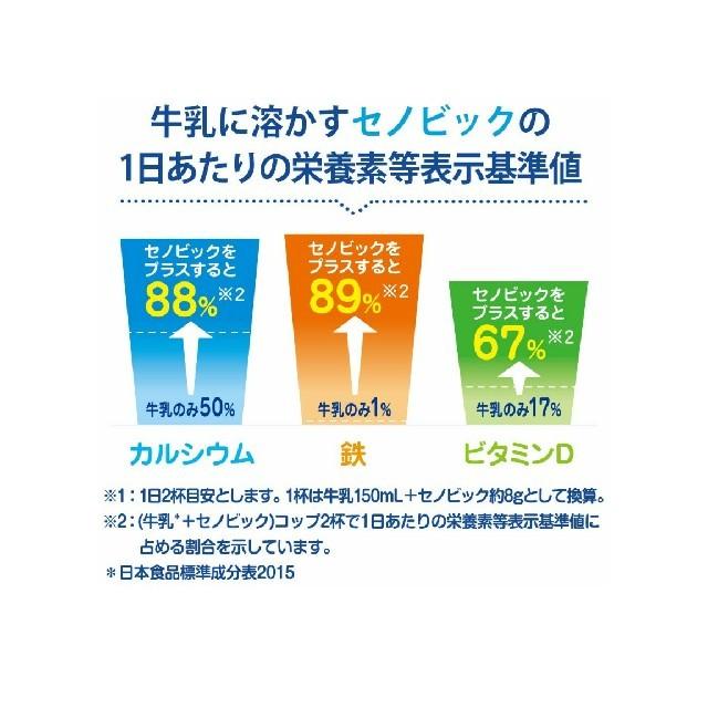 セノビック 成長期応援飲料 ミルクココア味 224g(約28杯分)   食品/飲料/酒の健康食品(その他)の商品写真