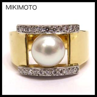ミキモト(MIKIMOTO)のMIKIMOTO ミキモト K18YG×Pt950 ダイヤ パール約8㎜玉リング(リング(指輪))