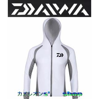 ダイワ(DAIWA)の⑨XLサイズ Daiwa ダイワ 吸汗速乾 UVカット長袖パーカーシャツ(ウエア)