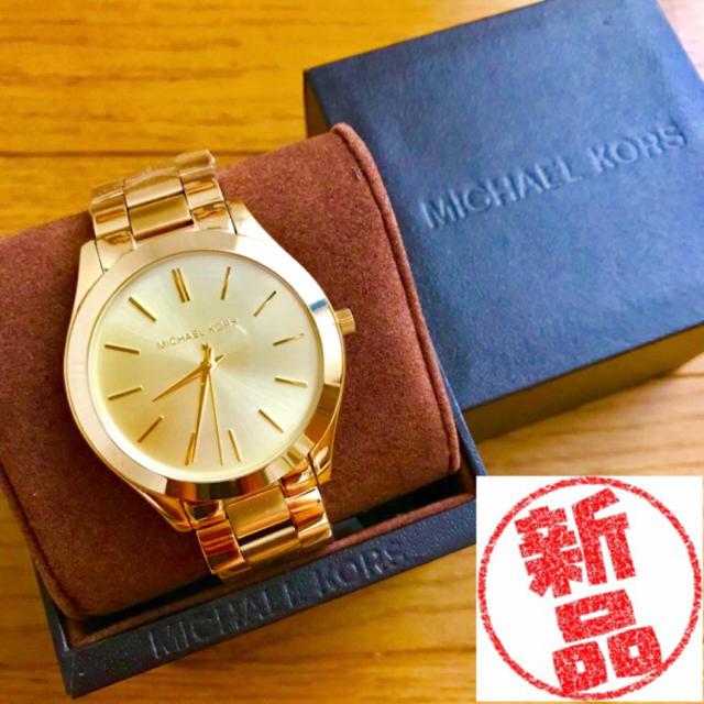 Michael Kors - 【新品!!】LADIES MICHAEL KORS 人気モデル腕時計ゴールド🎀の通販 by リラックス's shop|マイケルコースならラクマ