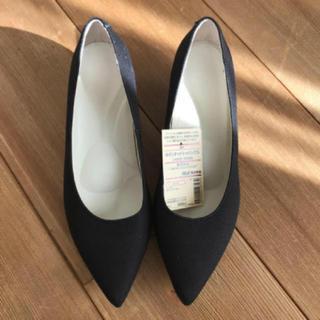 ムジルシリョウヒン(MUJI (無印良品))の新品 無印良品 撥水 ポインテッドトゥパンプス 黒 23.5cm(スニーカー)