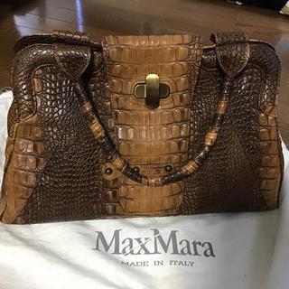 マックスマーラ(Max Mara)のmaxmara   マックスマーラ  ハンドバッグ クロコ型押し(ハンドバッグ)