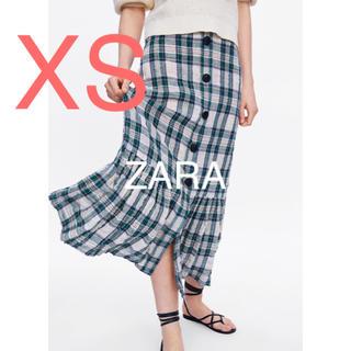 ザラ(ZARA)のZARA  ザラ スカート チェック ロングスカート(ロングスカート)