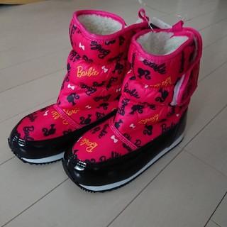 バービー(Barbie)の《新品》Barbie スノーブーツ 18㎝(ブーツ)
