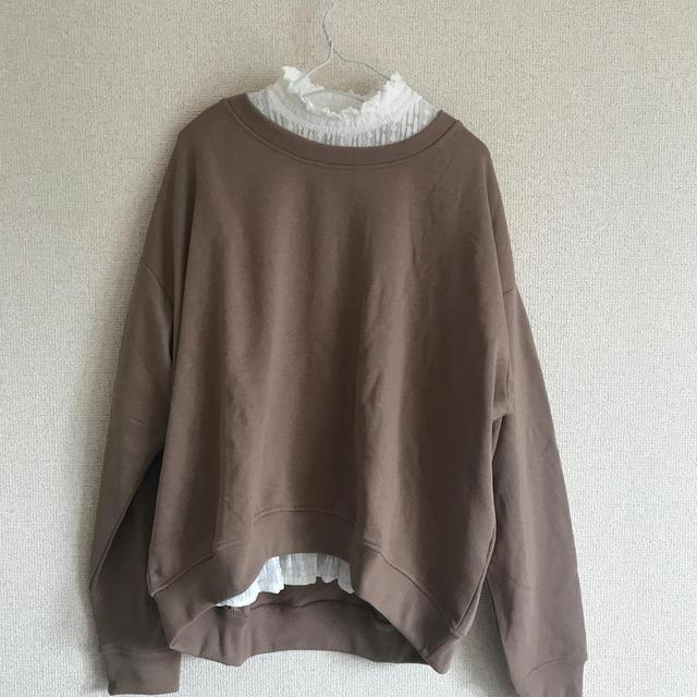 GU(ジーユー)のレースTシャツ レディースのトップス(Tシャツ(長袖/七分))の商品写真