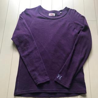 ハリウッドランチマーケット(HOLLYWOOD RANCH MARKET)のハリウッドランチマーケット ストレッチフライス長袖Tシャツ カットソー XS(Tシャツ(長袖/七分))