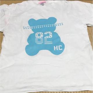 ハニーシナモン(Honey Cinnamon)のHONEY CINNAMONハニーシナモン くま BIG Tシャツ ホワイト (Tシャツ(長袖/七分))