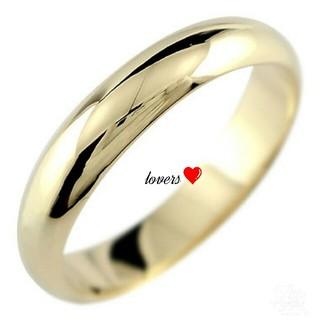 送料無料 16号 ゴールド サージカルステンレス シンプル 甲丸 リング 指輪(リング(指輪))