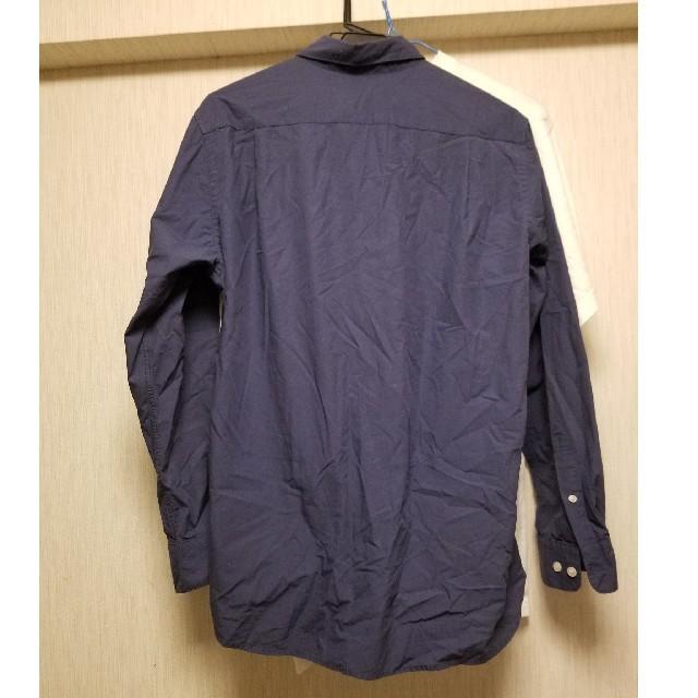 MUJI (無印良品)(ムジルシリョウヒン)の無印 MUJI シャツ ネイビー M メンズのトップス(シャツ)の商品写真