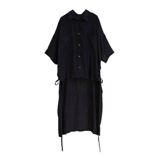 オズモーシス(OSMOSIS)のOSMOSIS★バックロングサイドドローストリングシャツ(シャツ/ブラウス(半袖/袖なし))