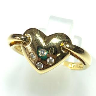リング ダイヤモンド ハート 指輪 k18yg イエローゴールド ダイヤリング(リング(指輪))
