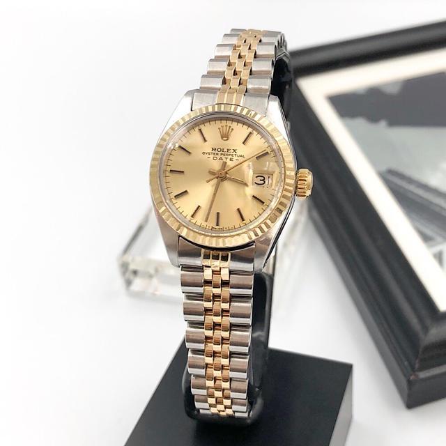 ROLEX - 【OH済/仕上済】ロレックス オイスター デイト コンビ レディース 腕時計の通販 by LMC|ロレックスならラクマ