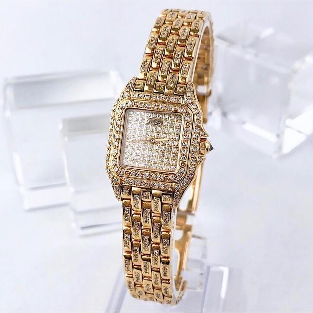Cartier - 【仕上済】カルティエ パンテール フルダイヤ K18YG レディース 腕時計の通販 by LMC|カルティエならラクマ