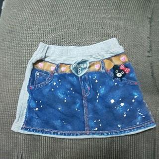 ミキハウス(mikihouse)のミキハウスダブルビースウェットスカート110(スカート)