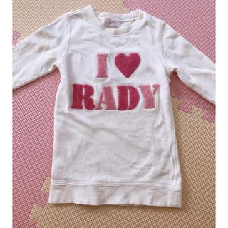 レディー(Rady)のちびRady トレーナーワンピ(ワンピース)