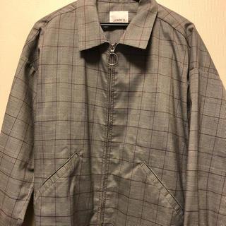 ジュンレッド(JUNRED)のJUNRED グレンチェックリングジップシャツ(ブルゾン)