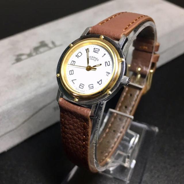 Hermes - 【美品 確実正規品】エルメス 腕時計 クリッパー ゴールドコンビ  Hウォッチの通販 by 即購入okです^_^|エルメスならラクマ