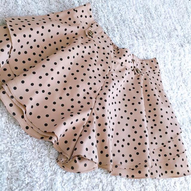 ByeBye(バイバイ)の『値下げ♡』秋服 ショートパンツ キュロット ラテ ドット レディースのパンツ(ショートパンツ)の商品写真