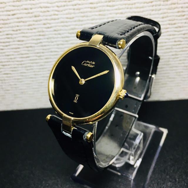 Cartier - 【美品 確実正規品】カルティエ 腕時計 マスト ヴァンドーム LM レザーベルトの通販 by 即購入okです^_^|カルティエならラクマ
