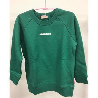 ミキハウス(mikihouse)のミキハウスロゴプリントトレーナーグリーン110サイズ(Tシャツ/カットソー)
