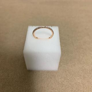 ヨンドシー(4℃)の4°C K10 ピンクゴールドハーフエタニティピンキーリング(リング(指輪))