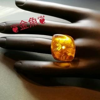 琥珀(アンバー)のリング・指輪・14.5号(リング(指輪))