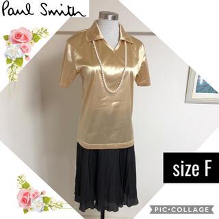 ポールスミス(Paul Smith)のポールスミス《未使用タグ付》ゴールドのVネックトップス(シャツ/ブラウス(半袖/袖なし))