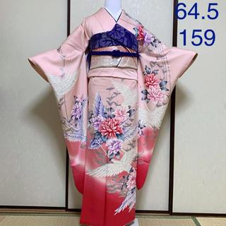 ミルフィーユ様専用ページ《京友禅》鶴と牡丹のキュートなお振袖フルセット(振袖)