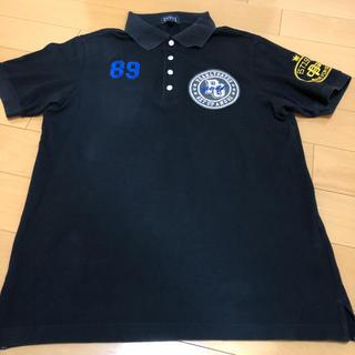 パーリーゲイツ(PEARLY GATES)のパーリーゲイツ⭐ポロシャツ⭐L⭐黒⭐ウェア⭐ゴルフ⭐ロゴ⭐半袖⭐スポーツ⭐メンズ(ポロシャツ)