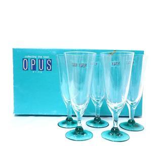 トウヨウササキガラス(東洋佐々木ガラス)のCA250 佐々木硝子 OPUS ビヤーグラス5個セット 未使用(グラス/カップ)