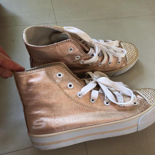 SKECHERS(スケッチャーズ)のスケッチャーズ ピンクゴールド  レディースの靴/シューズ(スニーカー)の商品写真