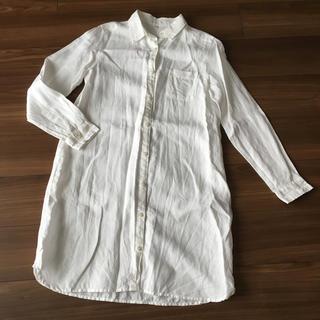 MUJI (無印良品) - 無印 リネンロングシャツ M