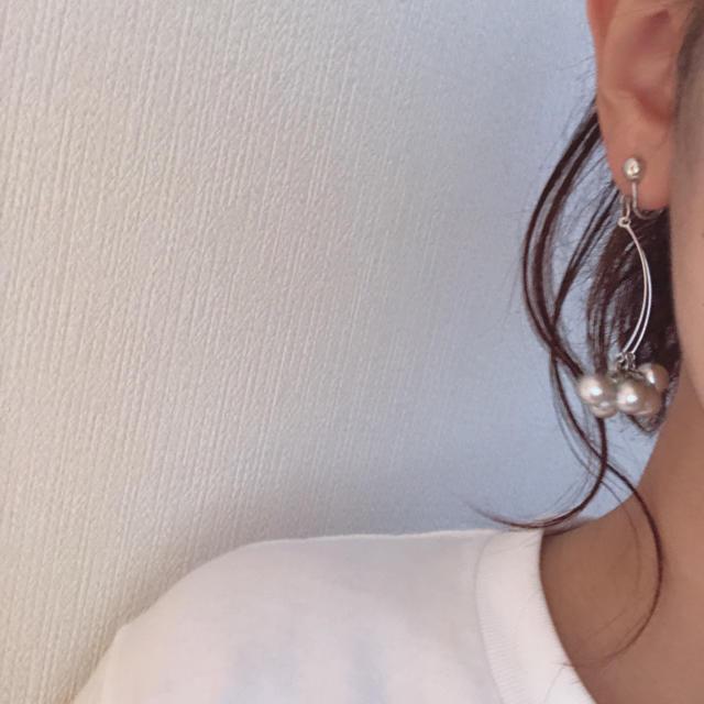 Kastane(カスタネ)のno1.ゆらゆらイヤリング  ハンドメイドのアクセサリー(イヤリング)の商品写真